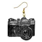 серьги - фотоаппарат