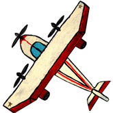 брошь-самолет